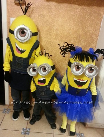 Homemade Despicable Me Minions Group Costume