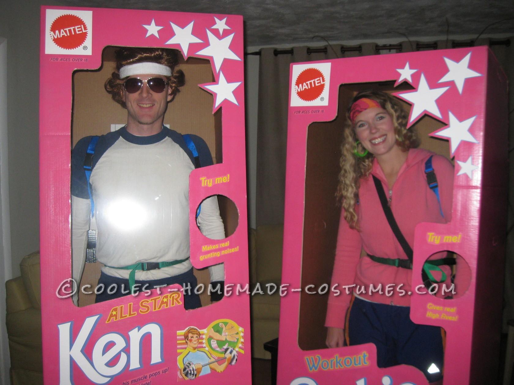 Coolest DIY Barbie and Ken Couple Costume