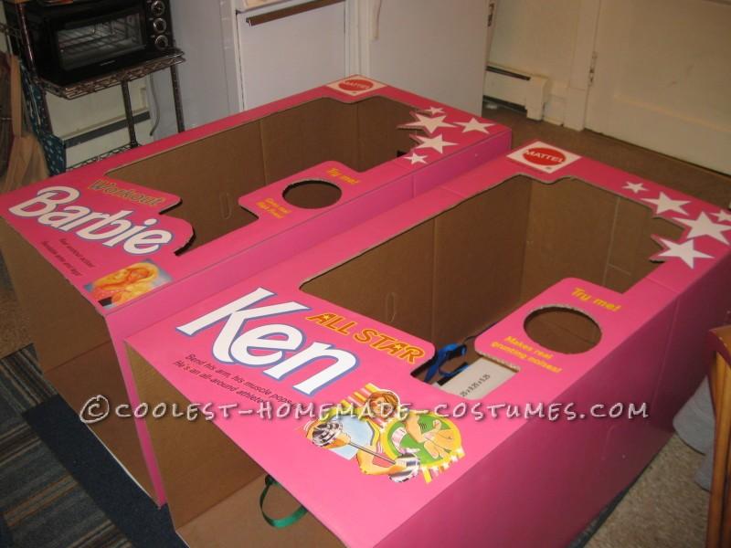 Coolest DIY Barbie and Ken Couple Costume - 5