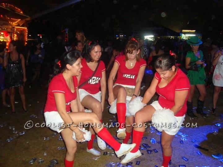 Cheerleaders in action!