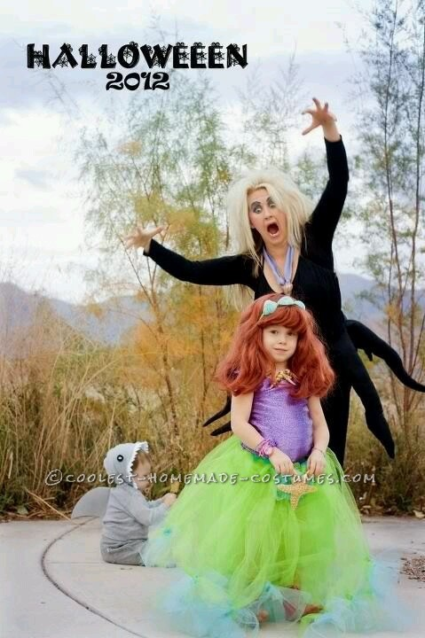 Easy, Cheap and Amazing Little Mermaid Family Costume