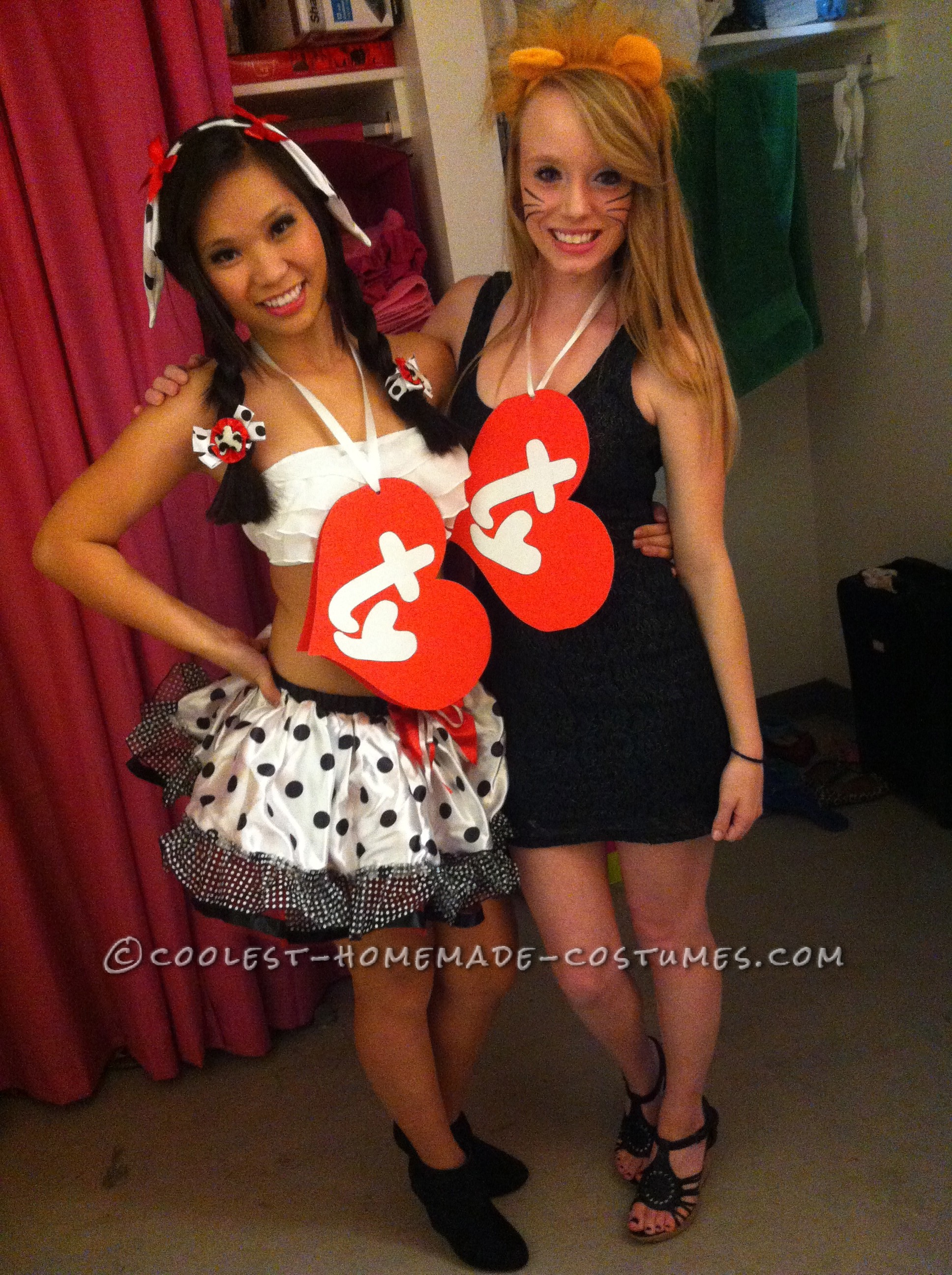 """Last-Minute Beanie Babies Couple Costume (for """"Poor"""" College Students...:-)"""