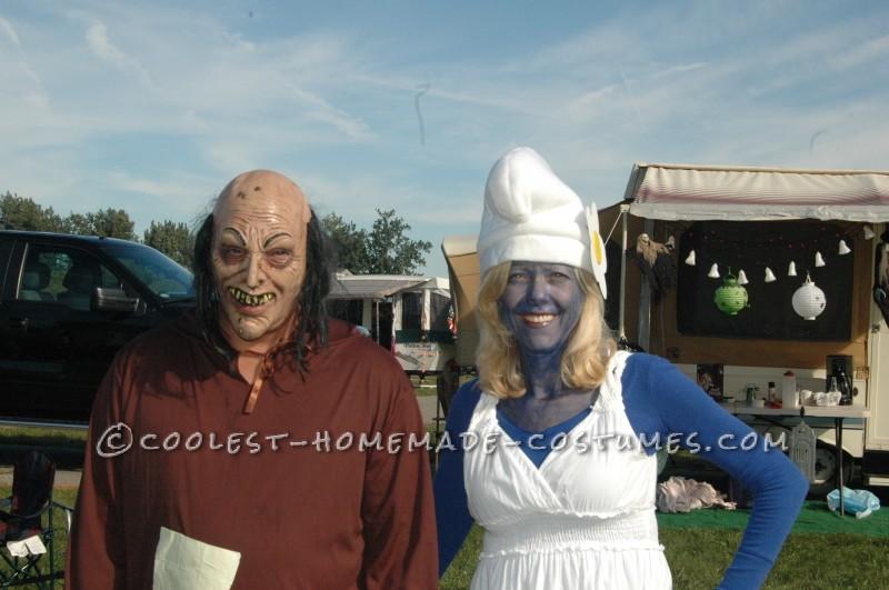 Easy Smurfy Couple Costumes