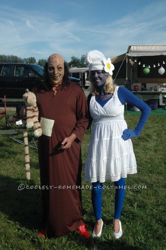Smurfette and Evil Gargamel