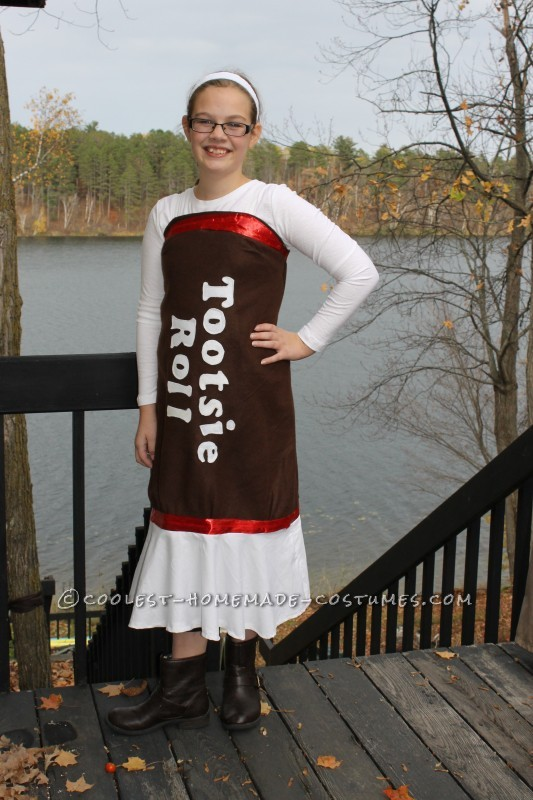 Easy Tootsie Roll Costume for Any Age