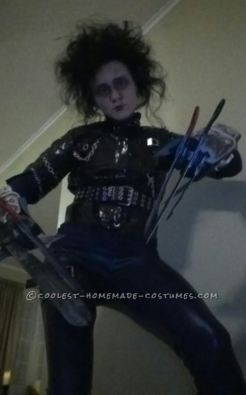 Awesome Homemade Edward Scissorhands Costume