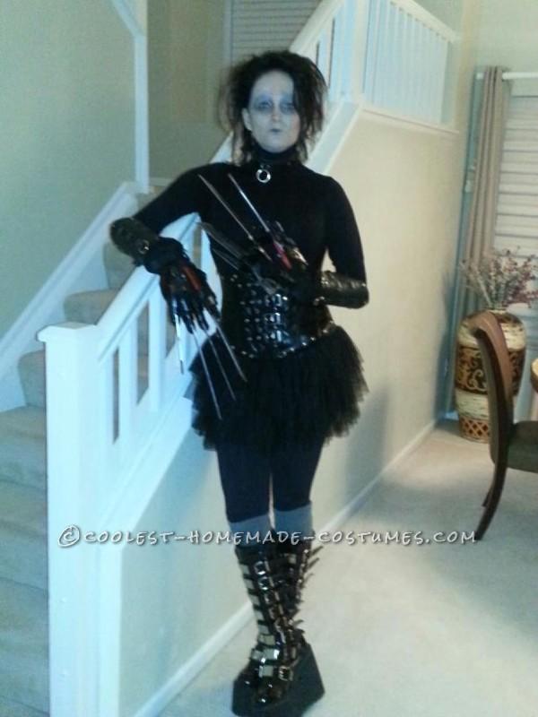 Coolest Homemade Edward Scissorhands Costume
