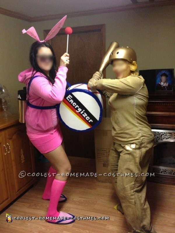 Awesome and Easy Homemade Energizer Bunny Costume for a Woman - 1