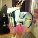 Coolest Homemade Energizer Bunny Costume