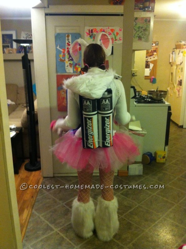 Coolest Homemade Energizer Bunny Costume - 2