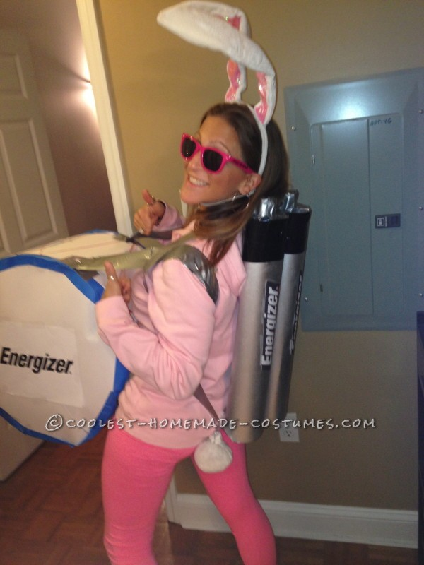 Coolest Homemade Energizer Bunny Costume - 1