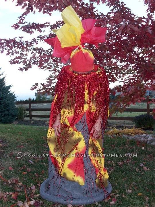 Coolest Homemade Erupting Volcano Costume Idea