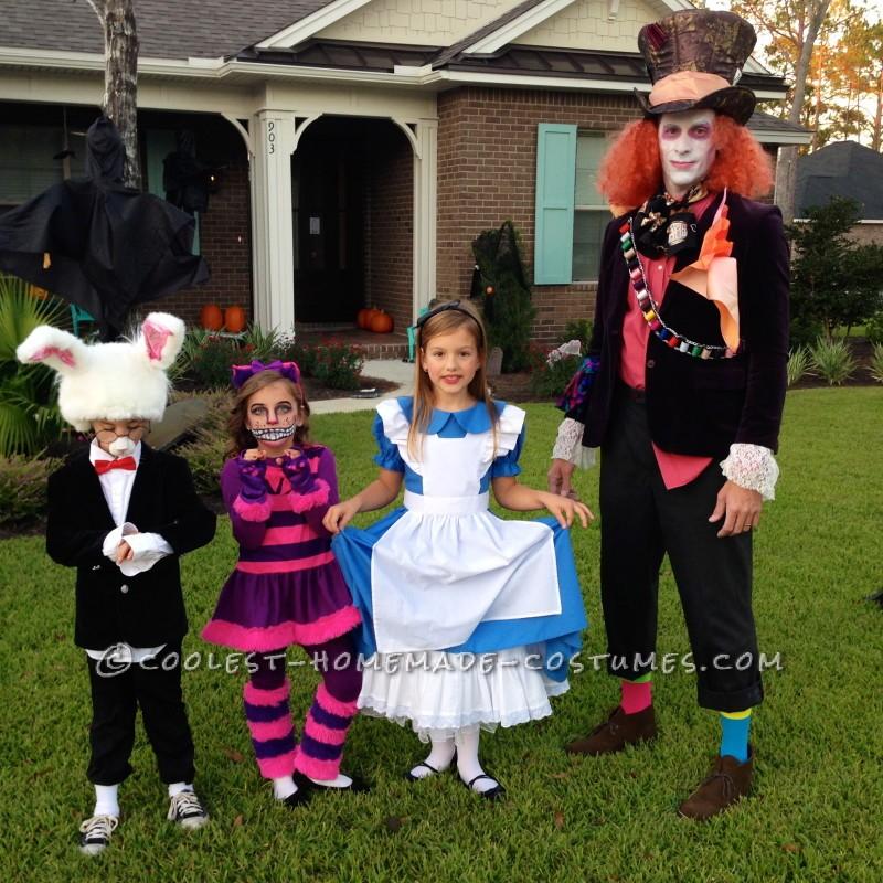 Six Alice in Wonderland Group Costume