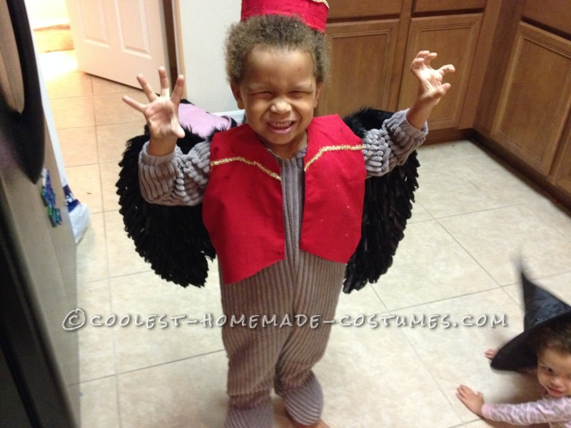 Cool Last-Minute Toddler Costume: Flying Monkey from Wizard of Oz