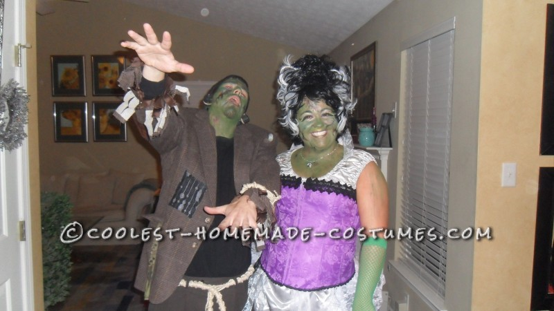Fun Homemade Couple Costume: Frankie and His Bride - 3