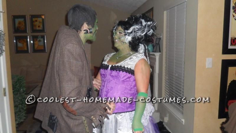 Fun Homemade Couple Costume: Frankie and His Bride - 2