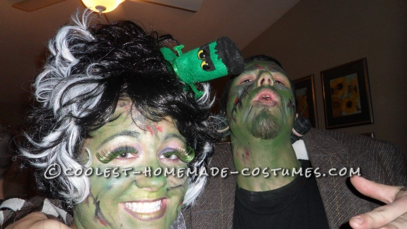 Fun Homemade Couple Costume: Frankie and His Bride