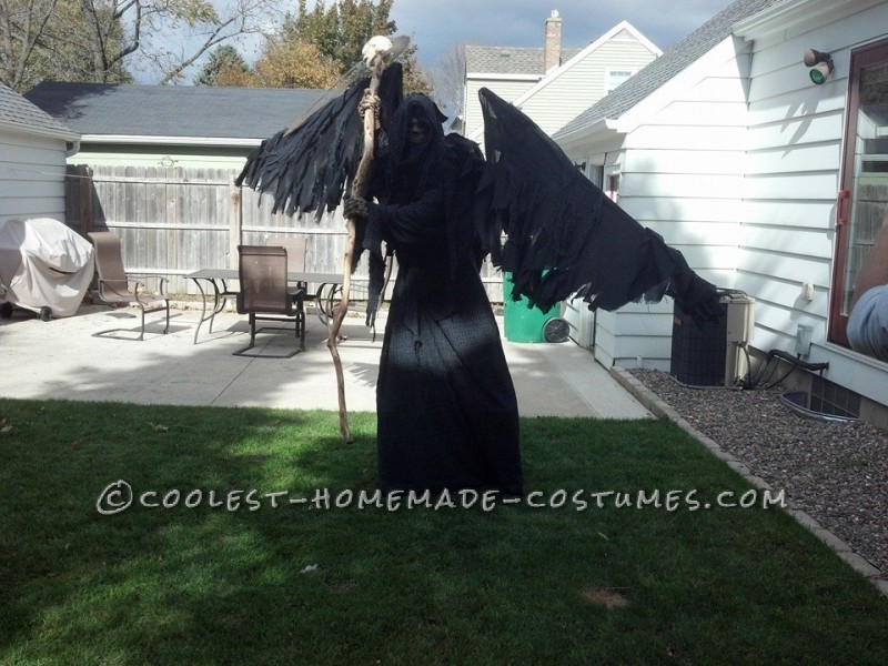 Coolest DIY Grim Reaper Costume: Free Hugs from Death - 3