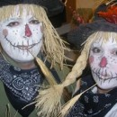 Funny and Cute Homemade Couple Costume: Not-So-Scary Scarecrows
