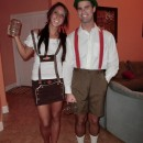 Funny Homemade Couple Costume: Stereotypical Germans