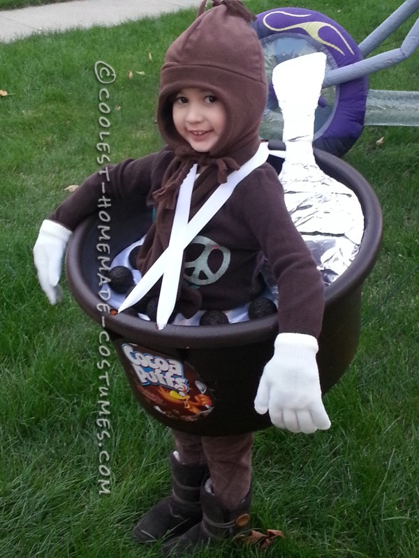 Giant Bowl of Cocoa Puffs Costume for a Child