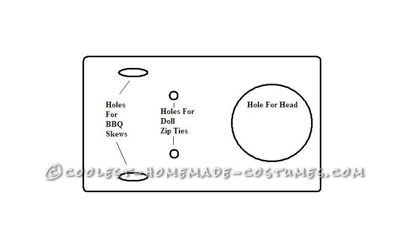 diagram of holes in the tote