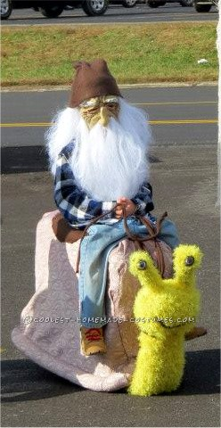 Coolest Homemade Gnome Riding a Snail Illusion Costume