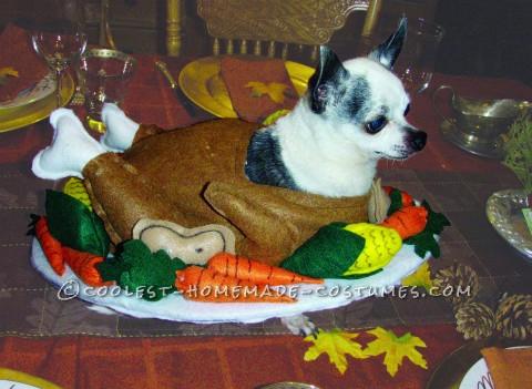 Funny Homemade Dog Costume: Gobble Til You Wobble