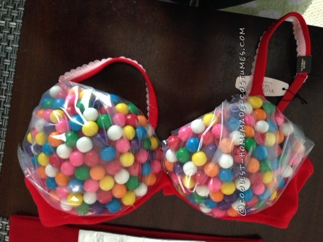 Sexy Homemade Gumball Machine Costume