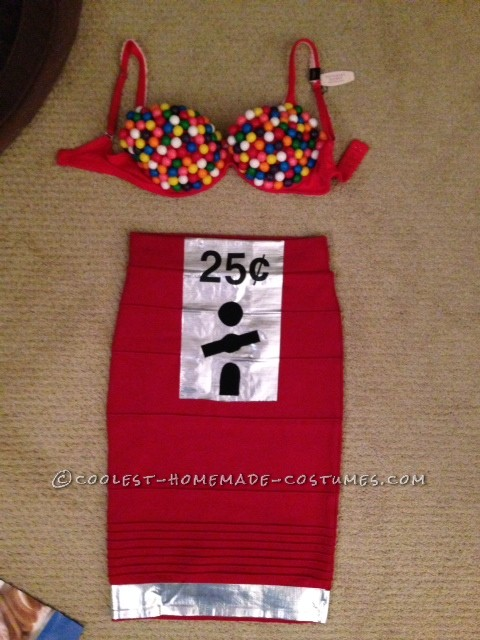 Sexy Homemade Gumball Machine Costume - 9