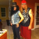 Rock Star Legends for One Night: Axl and Slash Couple Halloween Costume