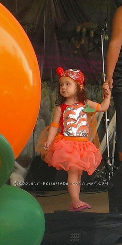 Cool Handmade Goldfish Costume for a Girl