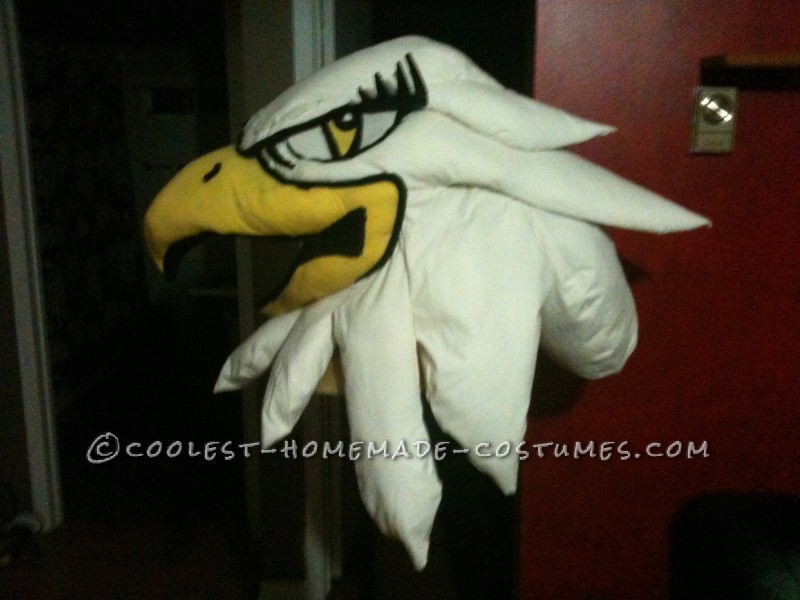 Entirely Homemade Hawkettes Mascot Costume - 1
