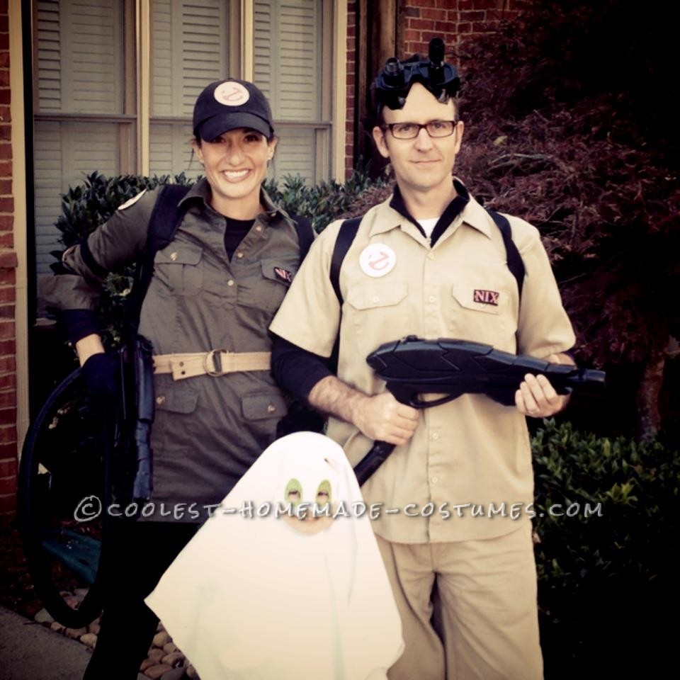 Cool Homemade Ghostbuster Mom and Dad Take Out the Little Ghost