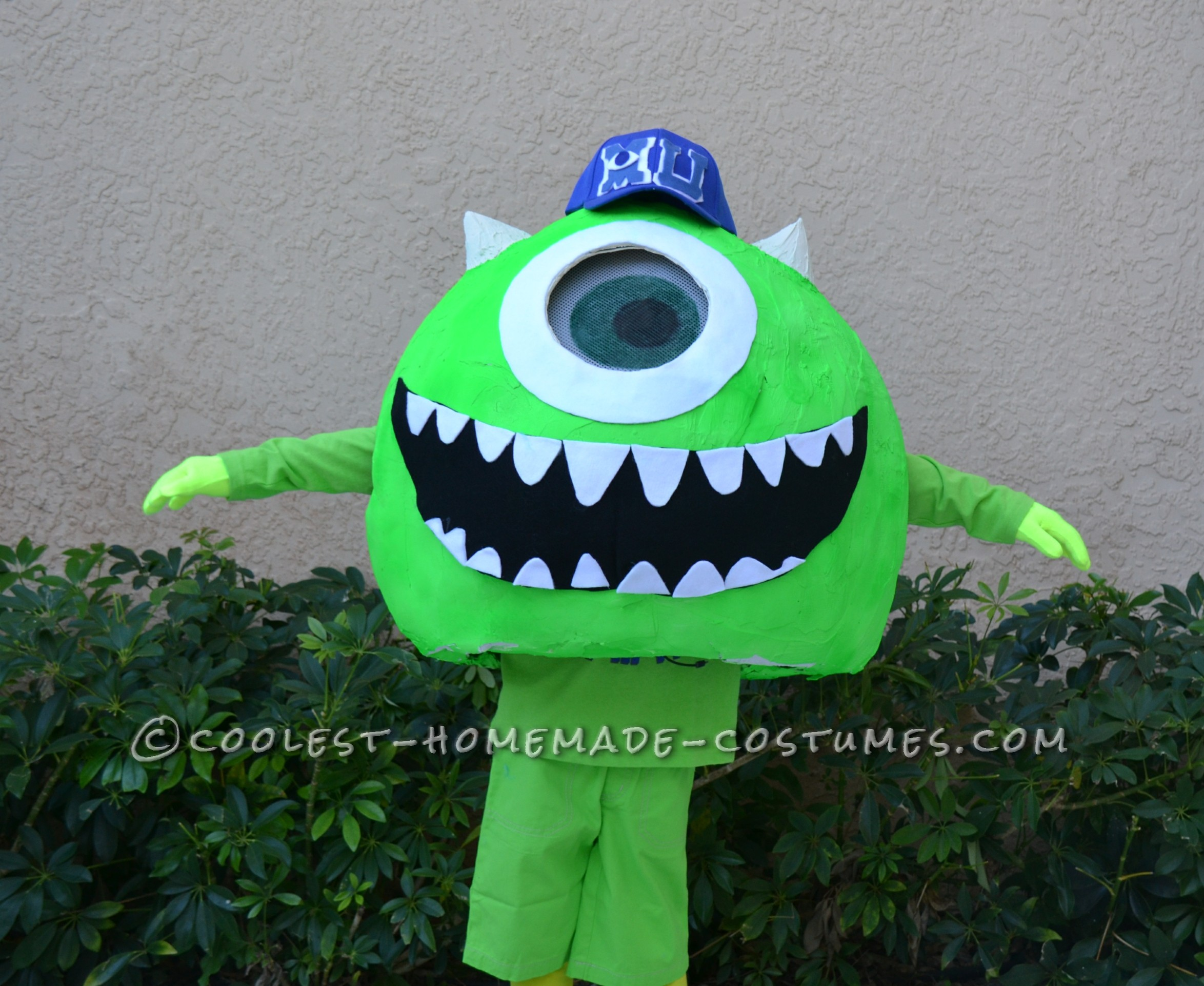 Coolest Homemade Mike Wazoski Halloween Costume