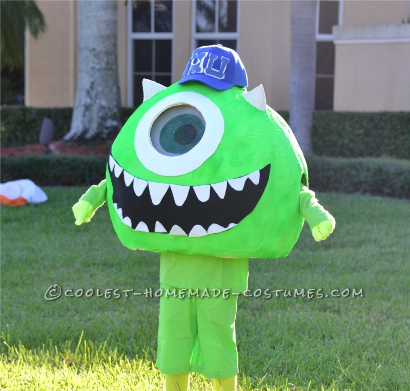Coolest Homemade Mike Wazoski Halloween Costume - 1