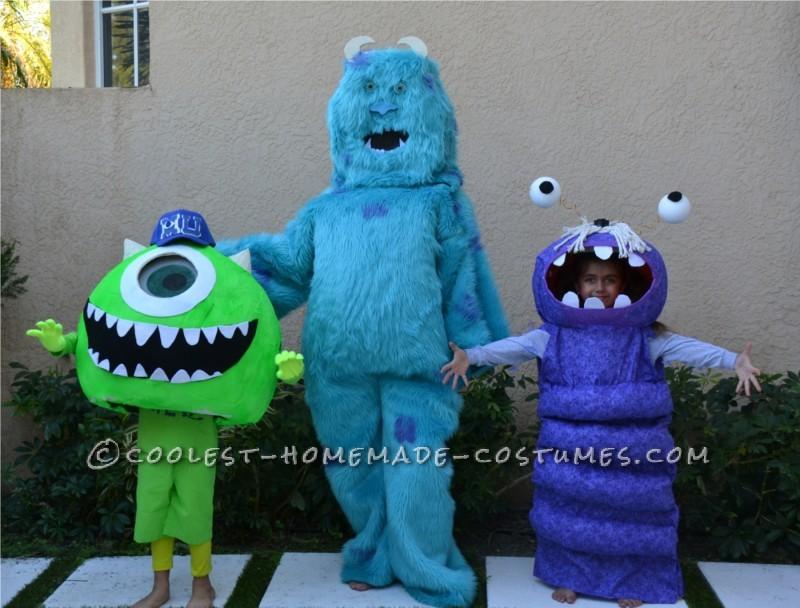 Coolest Homemade Mike Wazoski Halloween Costume - 2