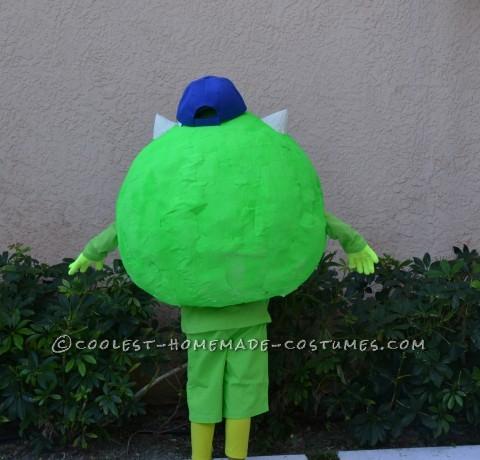 Coolest Homemade Mike Wazoski Halloween Costume