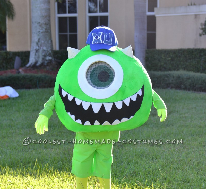 Coolest Homemade Mike Wazoski Halloween Costume - 4