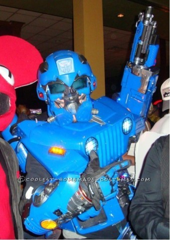 Coolest Homemade Transformer Costume - AKA Wrangler!