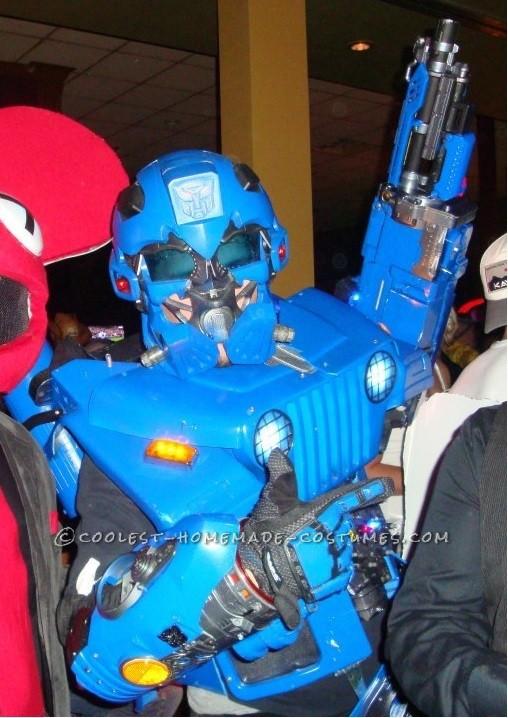 Coolest Homemade Transformer Costume - AKA Wrangler!