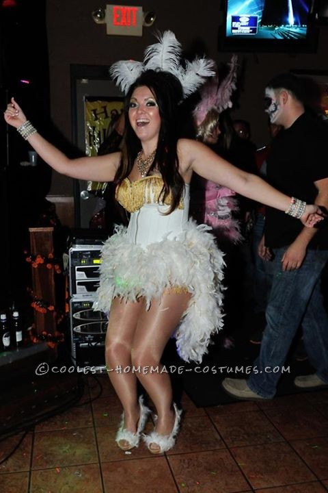Simple Homemade Vegas Showgirl Costume