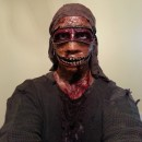 Homemade Zombie Zipper Costume That'll Freak You Out!