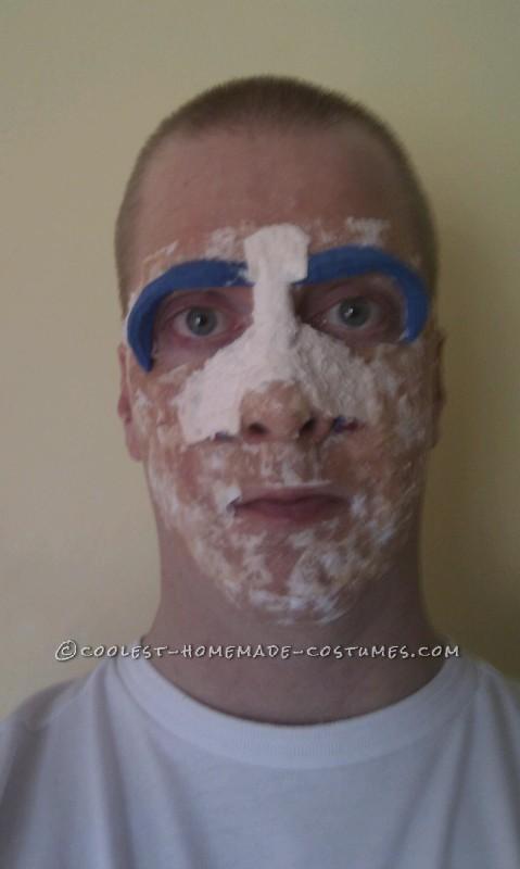 Foam used to get basic mask shape.