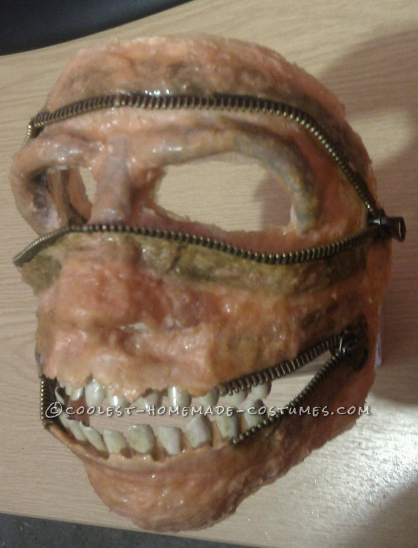 teeth added to mask.