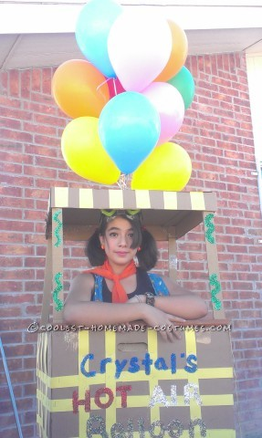 Homemade Hot Air Balloon Costume that Cost Nothing to Make!
