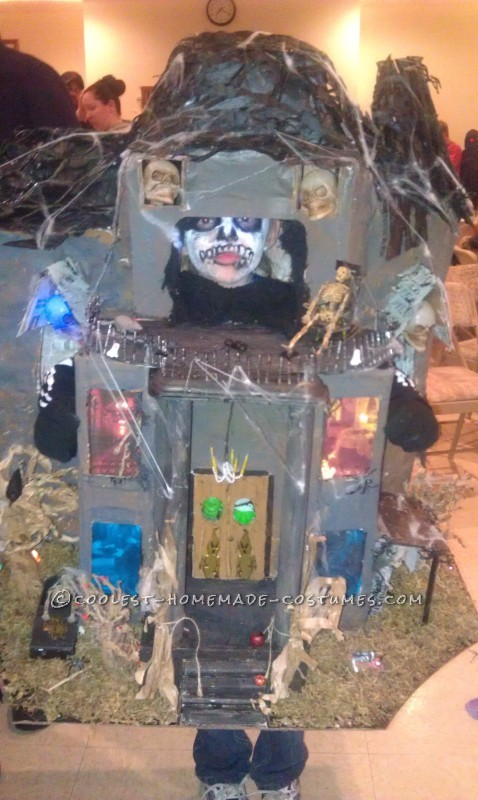 haunted house with flash showing more details
