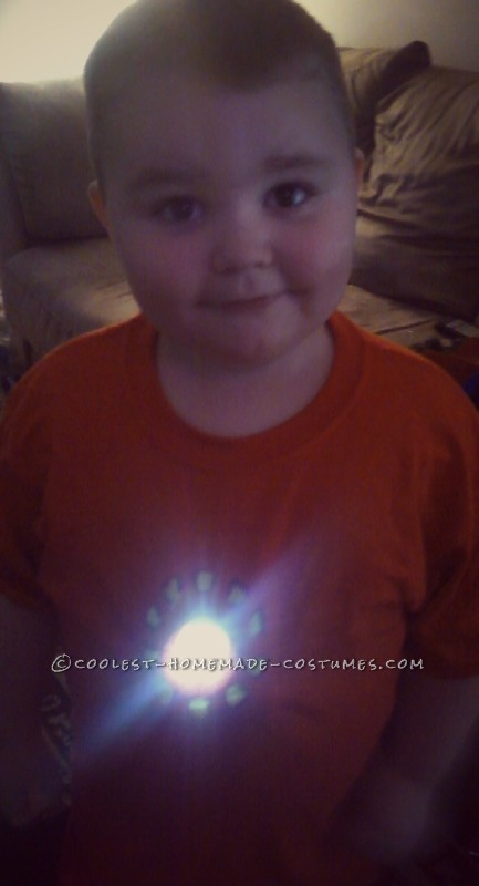 Homemade Iron Man Shirt for Super Hero Obsessed 3 Year Old Boy