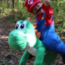 Cool Homemade Illusion Costume for a Toddler: Its Me Mario... And Yoshi Too!