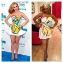 Sexy Homemade Katy Perry Smurfette Dress/Costume